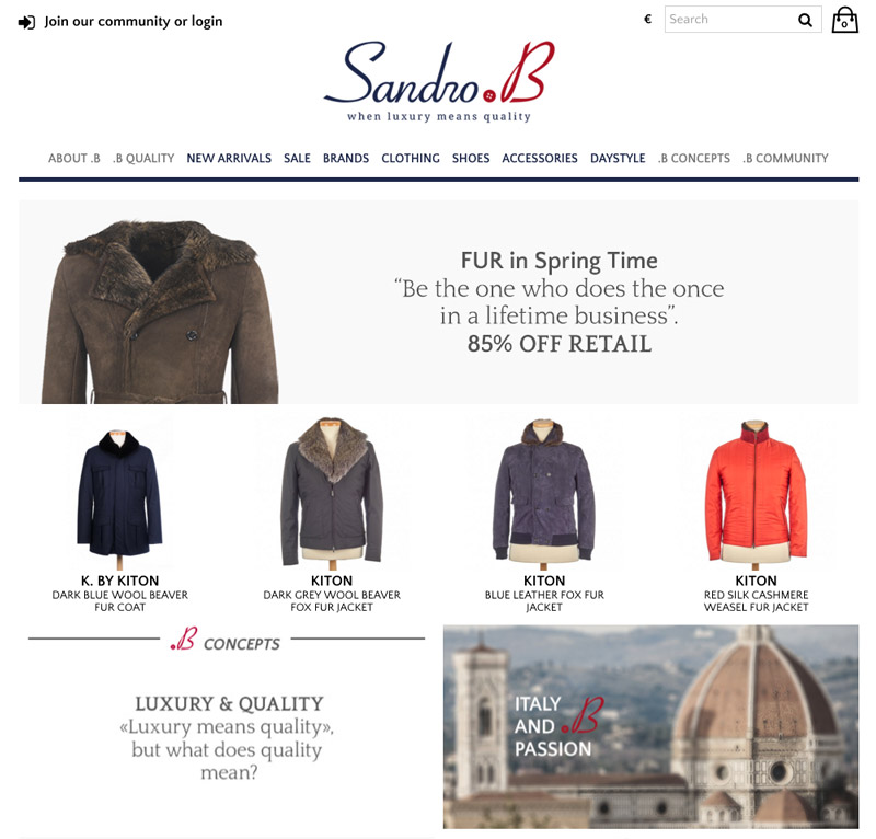 e-commerce prestashop sandro-b