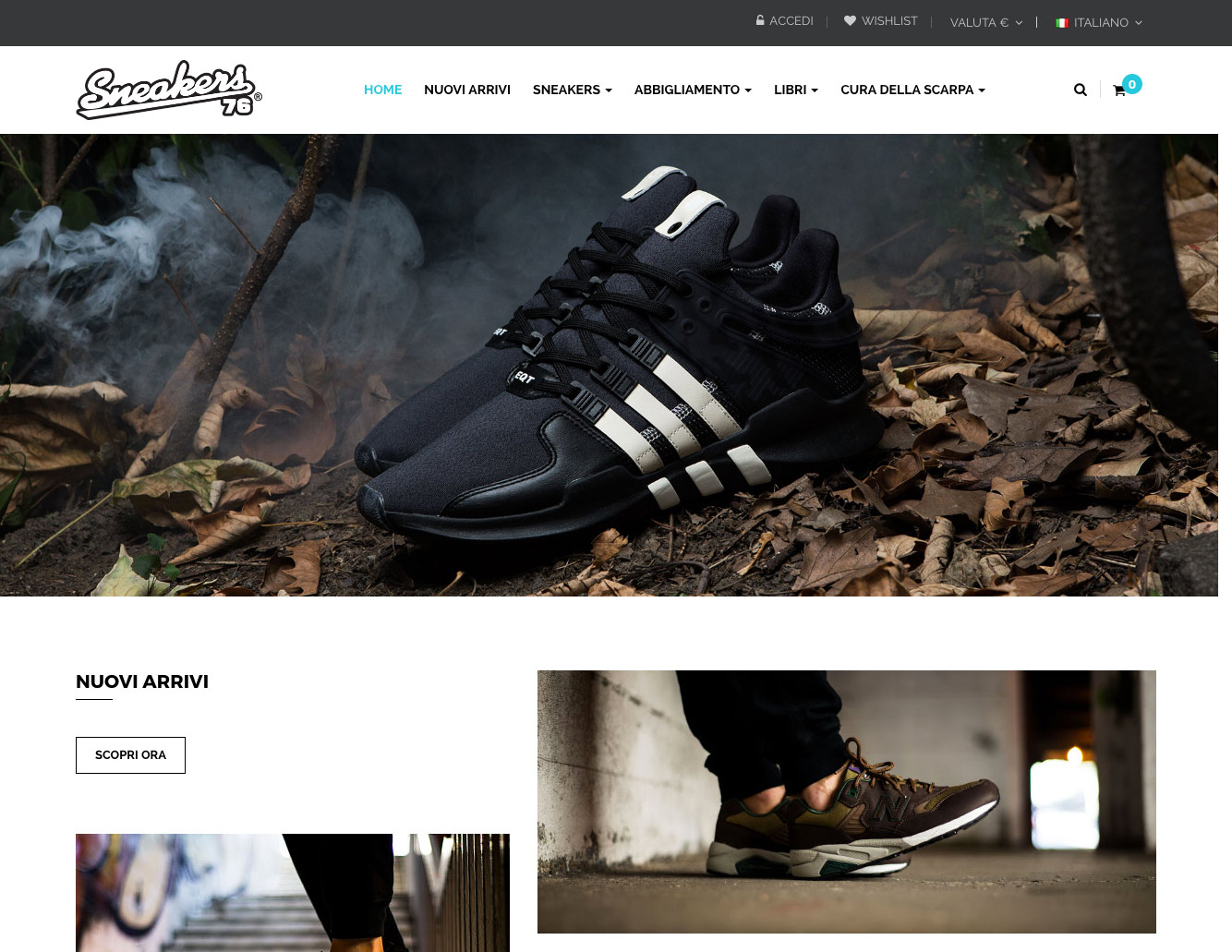sito e-commerce sneakers