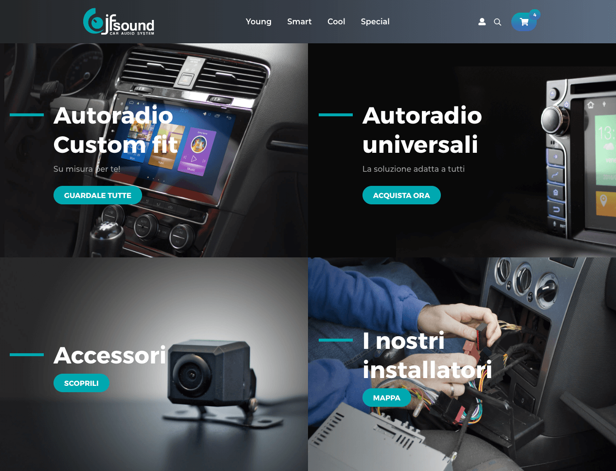sito e-commerce autoradio Prestashop